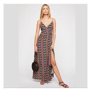 Free People Siren Wrap Maxi Dress